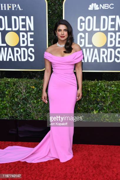 Priyanka Chopra Jonas attends the 77th Annual Golden Globe Awards at The Beverly Hilton Hotel on January 05 2020 in Beverly Hills California