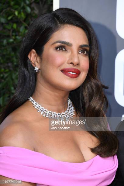 Priyanka Chopra Jonas attends the 77th Annual Golden Globe Awards at The Beverly Hilton Hotel on January 05, 2020 in Beverly Hills, California.