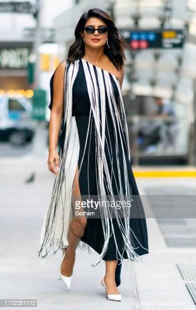Priyanka Chopra Jonas is seen wearing Monse in Tribeca on September 04, 2019 in New York City.