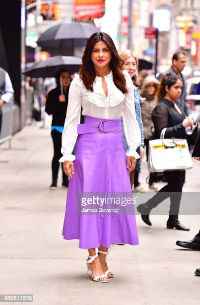 Priyanka Chopra leaves ABC's Good Morning America in Times Square on May 22 2017 in New York City