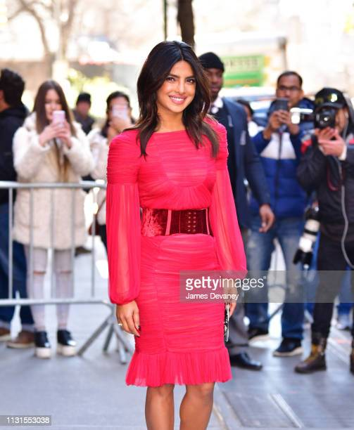 Priyanka Chopra leaves ABC's 'The View' at ABC Studios on March 19 2019 in New York City