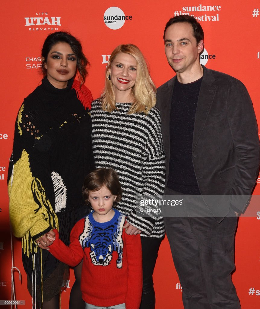 Priyanka Chopra, Leo James Davis, Claire Danes, Jim Parsons attend the 'A Kid Like Jake' Premiere during the 2018 Sundance Film Festival at Eccles Center Theatre on January 23, 2018 in Park City, Utah.