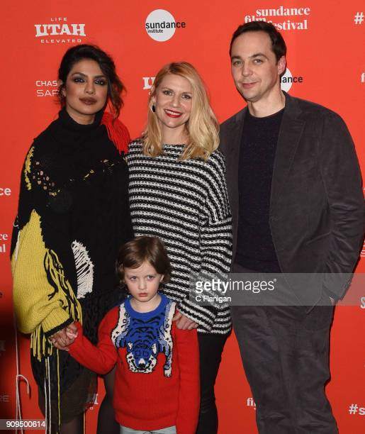Priyanka Chopra Leo James Davis Claire Danes Jim Parsons attend the 'A Kid Like Jake' Premiere during the 2018 Sundance Film Festival at Eccles...