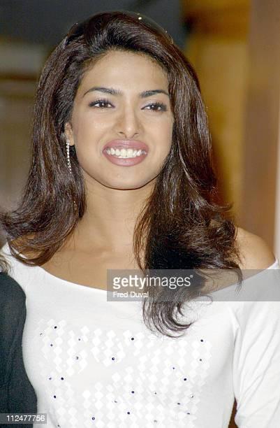 Priyanka Chopra, Miss World 2000 during Bollywood Stars Promote Temptation 2004 at Washington Hotel in London, Great Britain.
