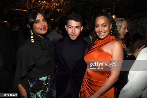 Priyanka Chopra Nick Jonas and LaLa Anthony attend Vanity Fair Amazon Studios and Audi Celebrate The 2020 Awards Season at San Vicente Bungalows on...