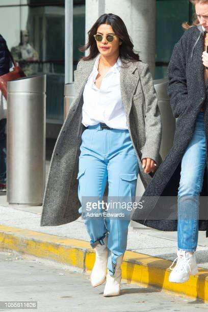 Priyanka Chopra seen at JFK airport on October 16 2018 in New York City