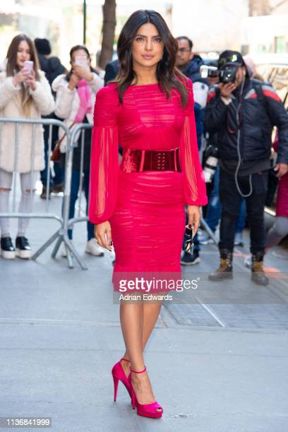 Priyanka Chopra seen at The View talk show on March 19 2019 in New York City