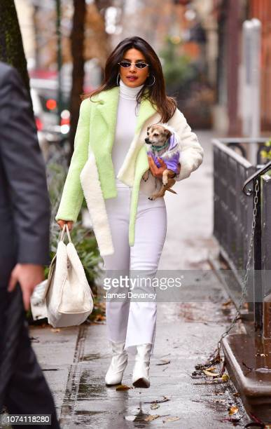 Priyanka Chopra seen on the streets of Manhattan on December 16 2018 in New York City
