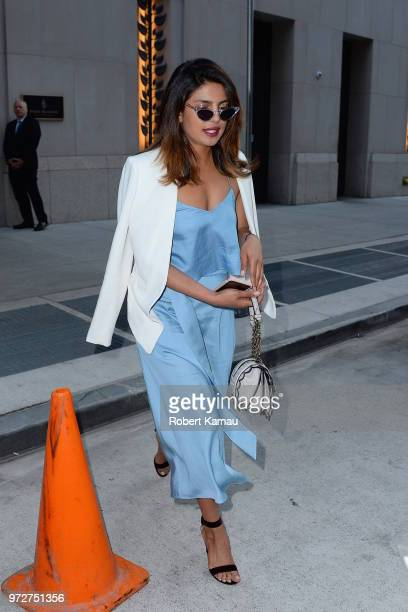 Priyanka Chopra seen out and about in Manhattan on June 12 2018 in New York City