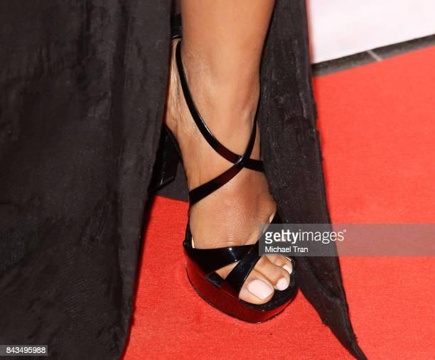 Priyanka Chopra shoe detail arrives at the TIFF Soiree held during the 2017 Toronto International Film Festival at TIFF Bell Lightbox on September 6...