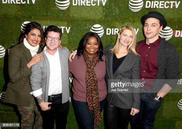 Priyanka Chopra Silas Howard Octavia Spencer Claire Danes and Jim Parsons stop by DIRECTV Lodge presented by ATT during Sundance Film Festival 2018...