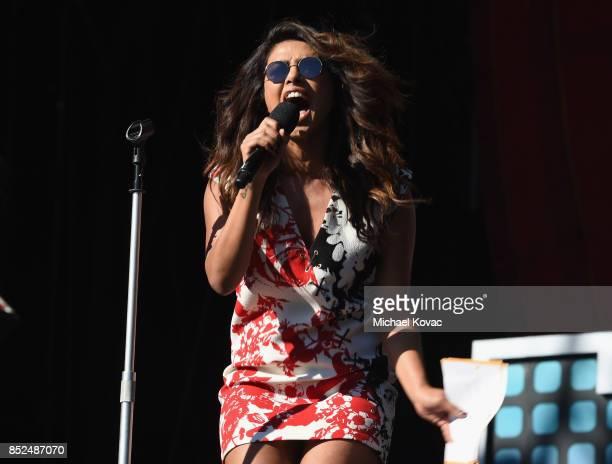 Priyanka Chopra speaks onstage during Global Citizen Festival 2017 at Central Park on September 23 2017 in New York City