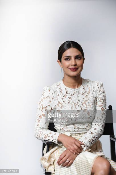 Priyanka Chopra Star Of Movie 'Baywatch' poses for a photo at the Build LDN event at AOL London on June 1 2017 in London England