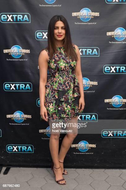 Priyanka Chopra visits 'Extra' at Universal Studios Hollywood on May 24 2017 in Universal City California