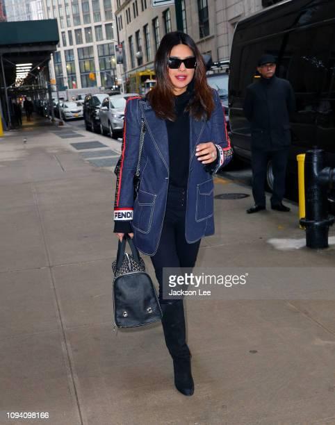 Priyanka Chopra wears FEndi on February 5 2019 in New York City