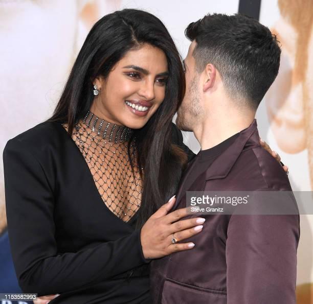 Priyanka ChopraJonas Nick Jonas arrives at the Premiere Of Amazon Prime Video's Chasing Happiness at Regency Bruin Theatre on June 03 2019 in Los...