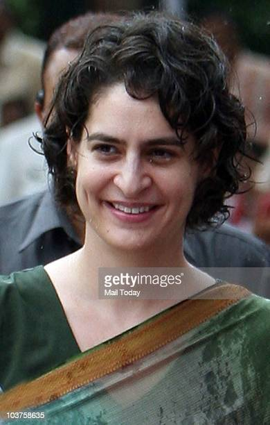 Priyanka Gandhi during the distribution of motorized tri-wheelers to disabled persons on the occasion of 66th birth anniversary of former Prime...