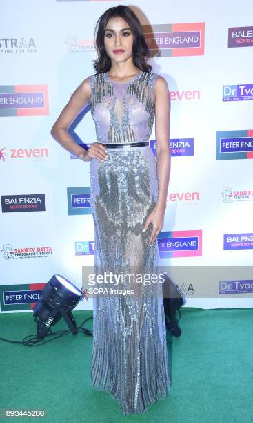 Priyanka Kumari the second runnerup of Miss India 2017 attends the green carpet event of Mr India 2017 Grand Finale at Bandra fort in Mumbai