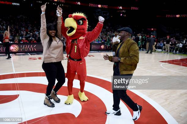 Prize Give Away winner and Producer Will Packer attend Atlanta Hawks Vs Boston Celtics game in partnership with 'What Men Want' at State Farm Arena...