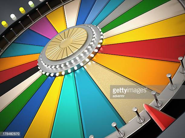 prize wheel - award stockfoto's en -beelden
