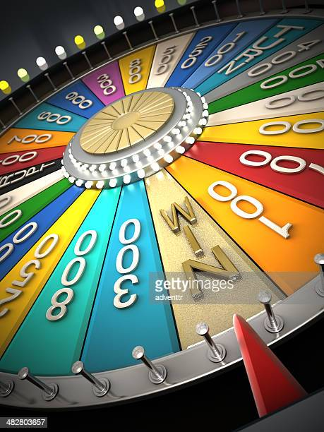 prize wheel - incentive stock photos and pictures