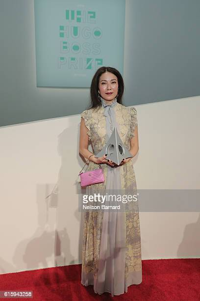 Prize Winner Anicka Yi poses for a photo at HUGO BOSS and GUGGENHEIM celebration of the 20th Anniversary of the HUGO BOSS Prize at Solomon R...