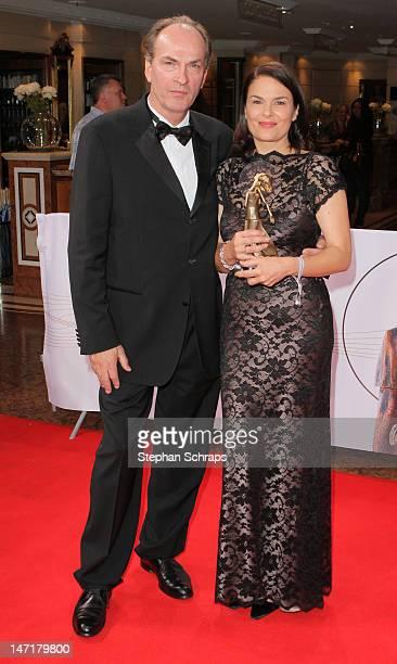 Prize winner Barbara Auer and Herbert Knaup attend the Diva Award 2012 at Hotel Bayerischer Hof Promenadeplatz on June 26 2012 in Munich Germany