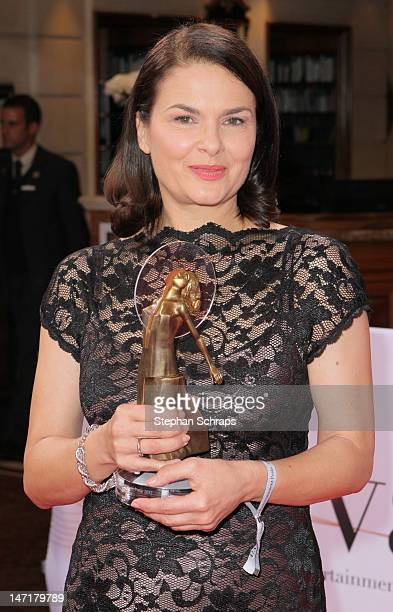 Prize winner Barbara Auer attends the Diva Award 2012 at Hotel Bayerischer Hof Promenadeplatz on June 26 2012 in Munich Germany