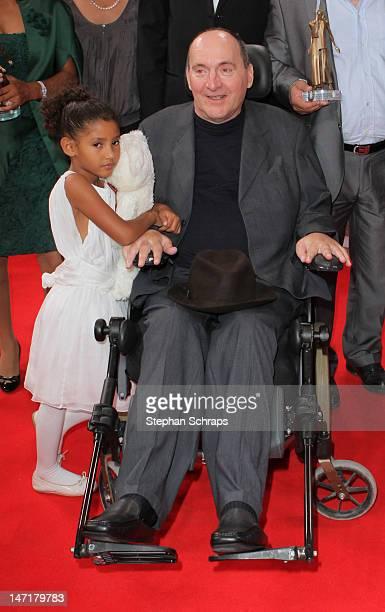 Prize winner Philippe Pozzo di Borgo and daughter Wijdame Pozzo di Borgo attend the Diva Award 2012 at Hotel Bayerischer Hof Promenadeplatz on June...