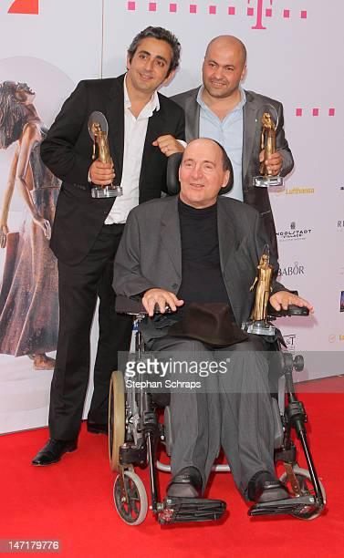 Prize winners Eric Toledano Philippe Pozzo di Borgo and Abdel Sellou attend the Diva Award 2012 at Hotel Bayerischer Hof Promenadeplatz on June 26...