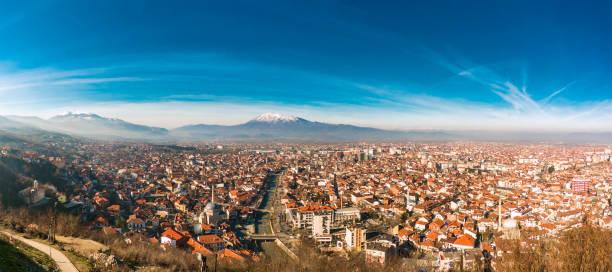 عرض مدينة بريزرن من أعلى - صور مخزون kosovo ، صور خالية من حقوق الملكية