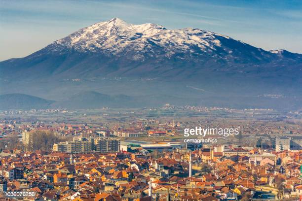 prizren city view from high - kosovo stock pictures, royalty-free photos & images