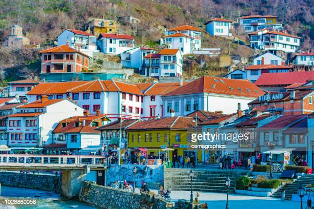 prizren houses - stone house stock pictures, royalty-free photos & images