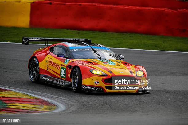 Pro Aston Martin Racing Aston Martin Vantage V8 of Alex MacDowall / Fernando Rees / Richie Stanaway in action during Round 2 of the 2015 FIA World...