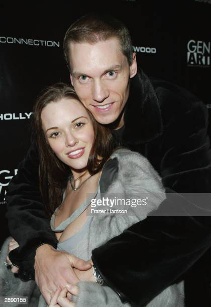 Pro Baseball player Kris Benson and Anna Benson attend the Gen Art/French Connection UK party during the 2004 Sundance Film Festival January 21 2004...