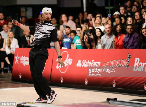 Pro baseball player Mookie Betts attends the State Farm Chris Paul PBA Celebrity Invitational at the Bowlero Woodlands on November 30 2017 in The...