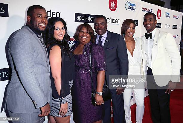 Pro basketball player Chris Paul , wife Jada Crawley and family members attend the CP3 Foundation Celebrity Server Dinner at Mastro's Steakhouse on...