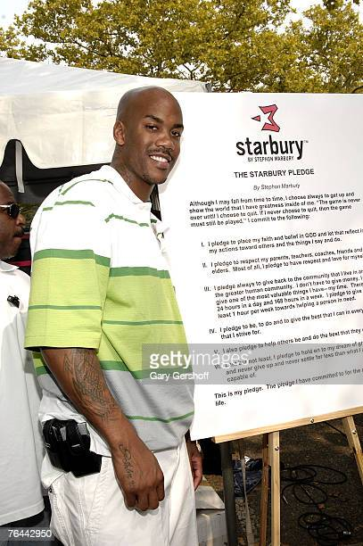 Pro Basketball Player Stephon Marbury at The New York Call and Youth Xplosion Starbury Giveback Day on August 31 2007 in Eisenhower Park East Meadow...