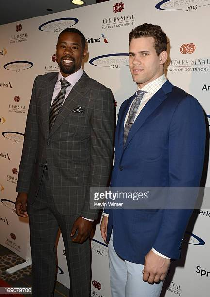 Pro basketball players DeAndre Jordan and Kris Humphries attend the 28th Anniversary Sports Spectacular Gala at the Hyatt Regency Century Plaza on...