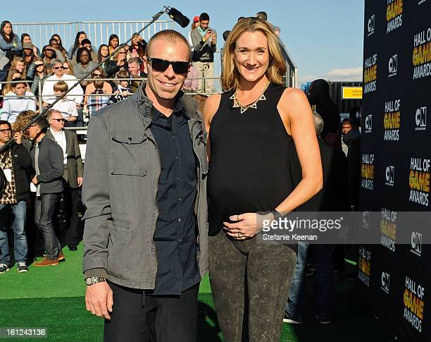 Pro Beach Vollyball player Kerri Walsh and guest attend the Third Annual Hall of Game Awards hosted by Cartoon Network at Barker Hangar on February 9...