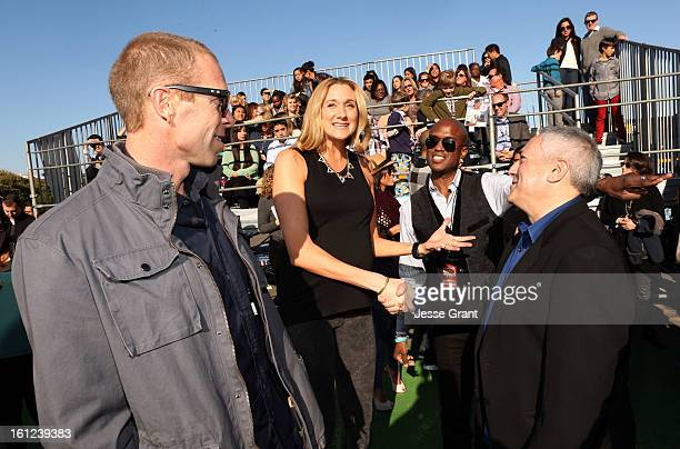 Pro beach vollyball player Kerri Walsh and President/COO of Cartoon Network Stuart Snyder attend the Third Annual Hall of Game Awards hosted by...