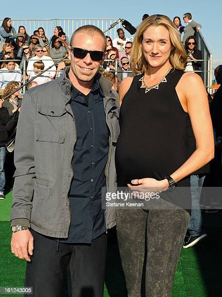 Pro Beach Vollyball player Kerri Walsh attends the Third Annual Hall of Game Awards hosted by Cartoon Network at Barker Hangar on February 9 2013 in...