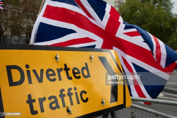 Pro Brexit protest in Westminster on 7th May 2019 in London England United Kingdom