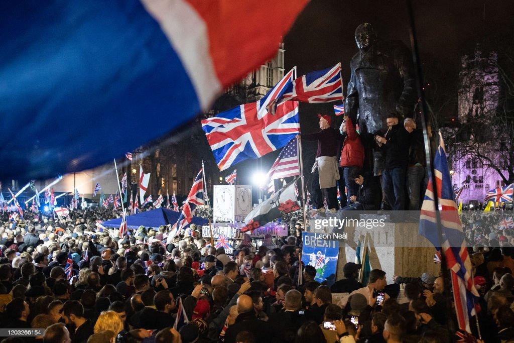 Leave Means Leave Host Brexit Day Celebration Party : ニュース写真
