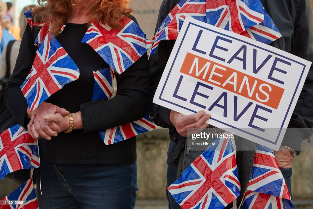 Pro-Brexit Supporters Rally On The Day The UK Should Have Left The EU : News Photo