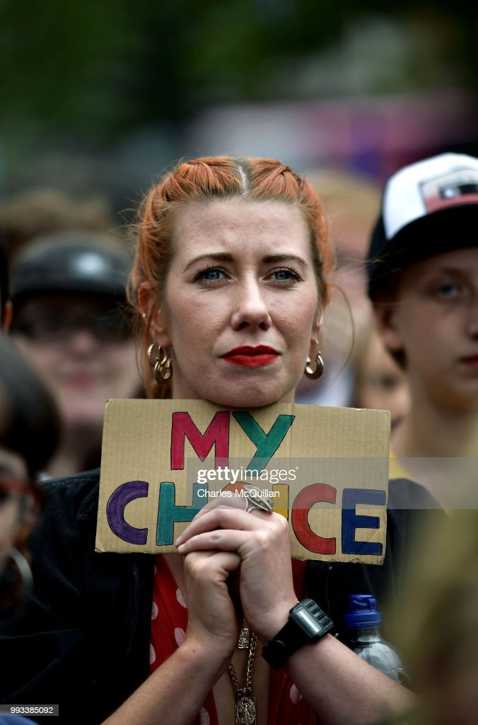 GBR: Rally For Choice Activists Protest In Belfast