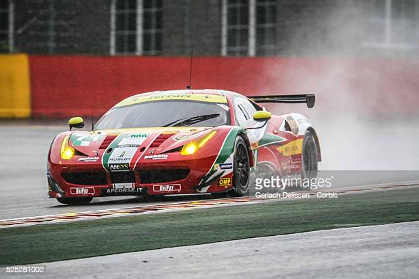 Pro Class AF Corse Ferrari F458 Italia of Davide Rigon and James Calado in action during free practice 1 of Round 2 of the 2014 FIA World Endurance...