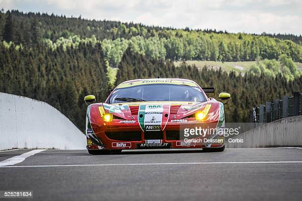 Pro Class AF Corse Ferrari F458 Italia of Davide Rigon and James Calado in action during the race of Round 2 of the 2014 FIA World Endurance...