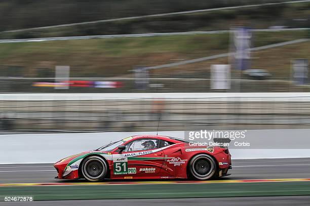 Pro class AF Corse Ferrari F458 Italia of Giancarlo Fisichella / Gianmaria Bruni in action during Free Practice 1 at Round 2 of the FIA World...