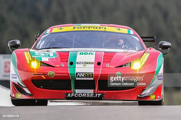 Pro class AF Corse Ferrari F458 Italia of Giancarlo Fisichella / Gianmaria Bruni in action during Free Practice 2 at Round 2 of the FIA World...